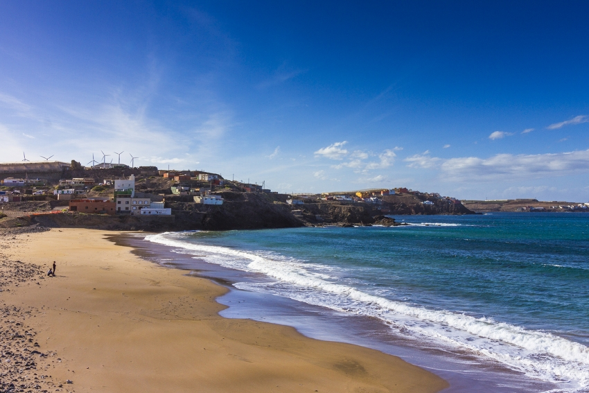 Bocabarranco beach in north Gran Canaria