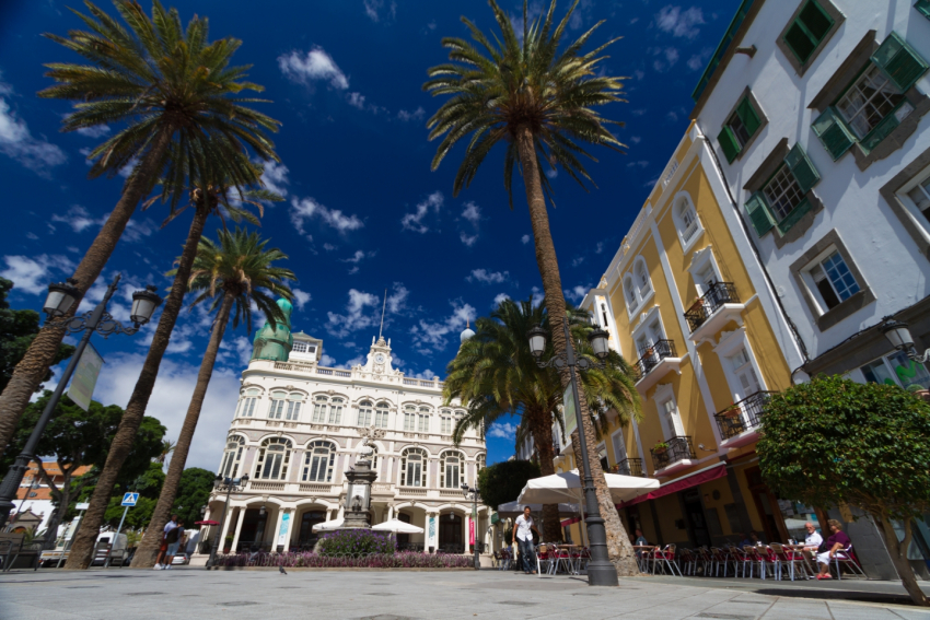 Triana Barrio is one of the most visited areas in Las Palmas de Gran Canaria city