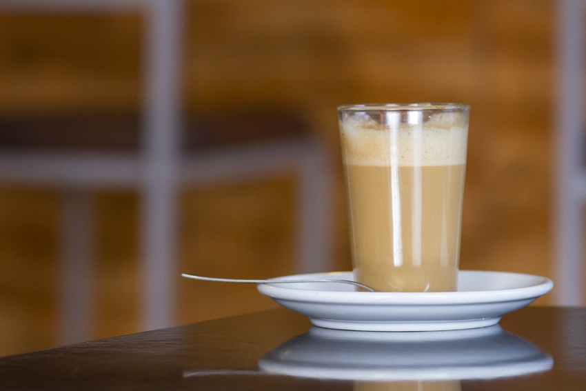 The cortado largo is the most common coffee in Gran Canaria