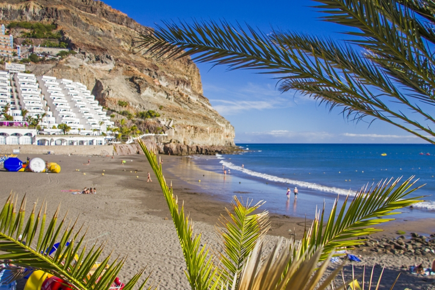 Taurito beach in south Gran Canaria