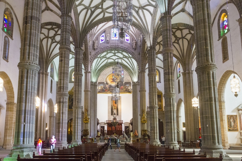 The interior of the Santa Ana cathedral in Las Palmas