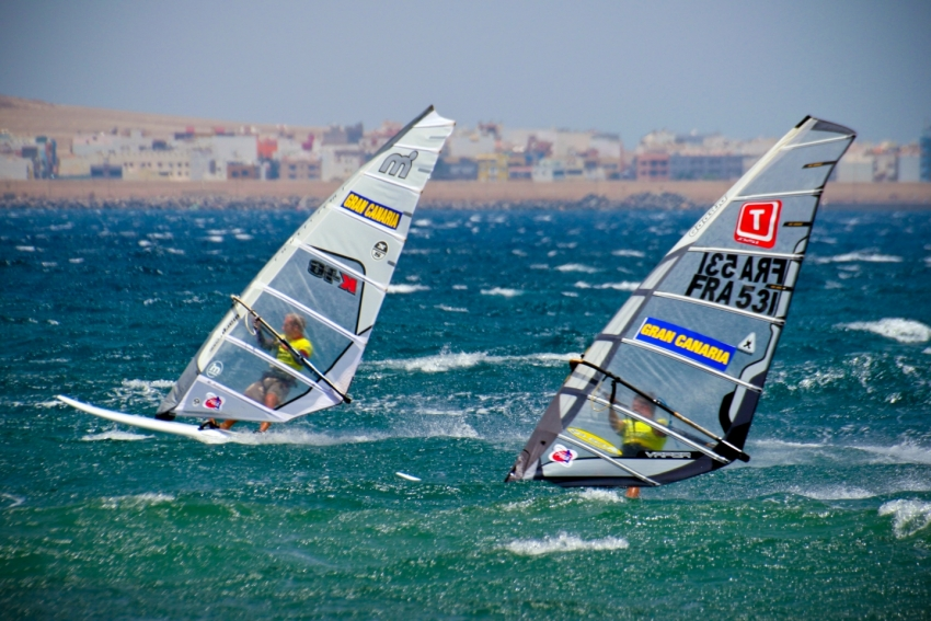 Windsurfing at Pozo Izquierdo in east Gran Canaria