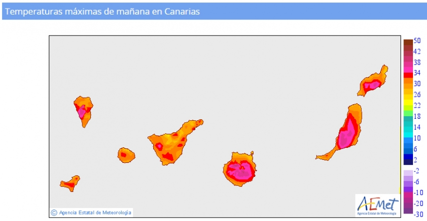 High temperatures forecast in Gran Canaria this week