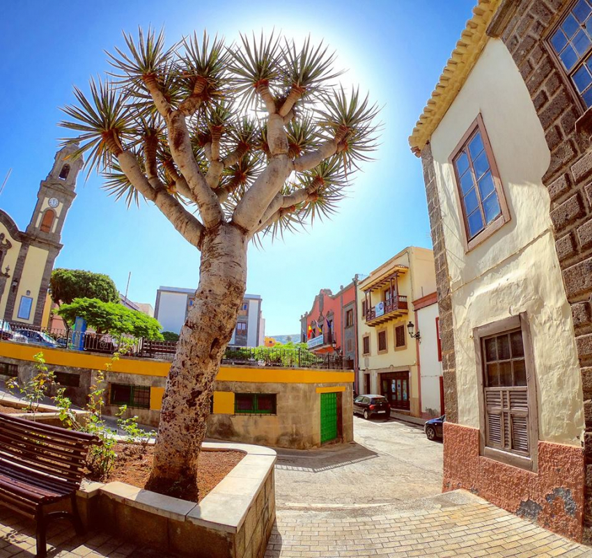 Guía town in north Gran Canaria: The Plaza and Church