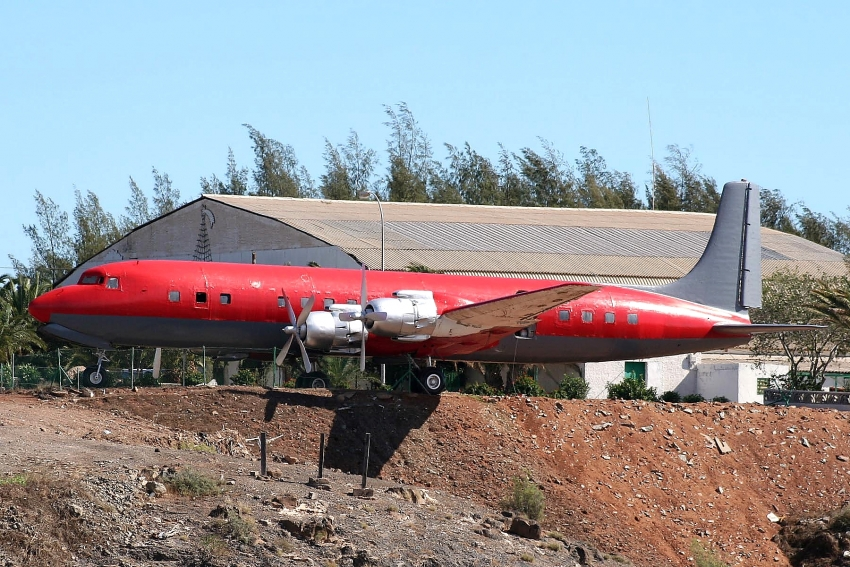 Gran Canaria's historic Douglas DC-7 plane prior to its makeover by Binter