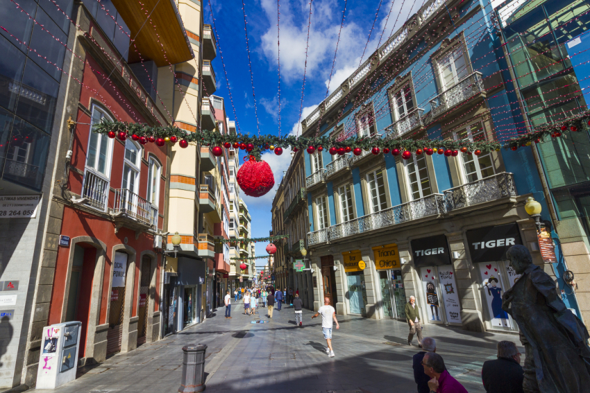 Triana district is one of the best shopping destinations in Gran Canaria