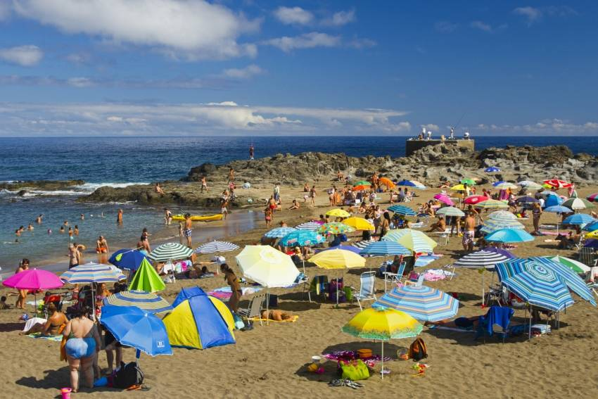 El Puertillo beach on the Gran Canaria north shore
